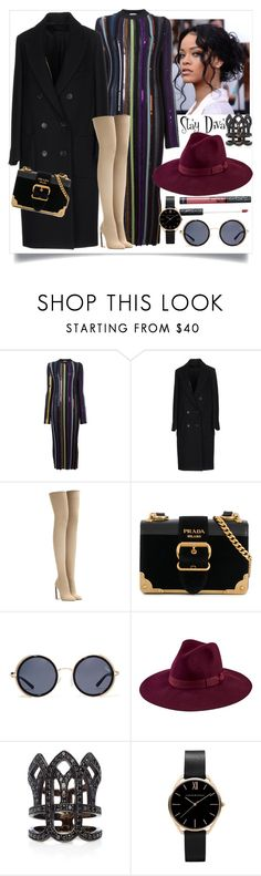 """Game Birthday"" by staydiva ❤ liked on Polyvore featuring Nina Ricci, Paltò, adidas Originals, Prada, Quay, San Diego Hat Co. and Colette Jewelry"