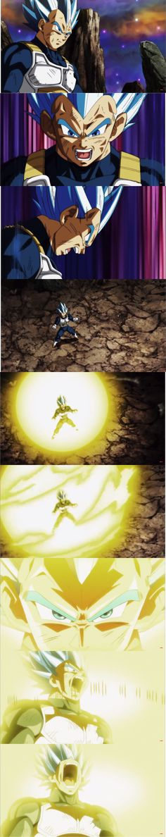 Vegeta's final explosion during the Tournament of Power