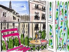 Image result for nooks and patios art flowers