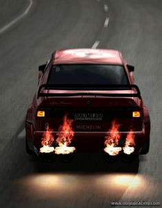 Alfa Romeo 155 DTM.  I had to pin this one for the flames!