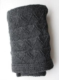 Fisherman's Wool Scarf Grey Heather
