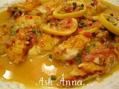 Chicken PIccata--one of the best recipes for this dish I have found. A lemony sauce gives this dish the pop of flavor that makes you say WOW!