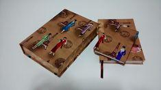 Kit agenda 2015  Kit acompanha caixa box, agenda, bloco de anotações.  Tecido: Várias estampas R$ 130,00