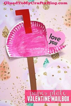 Paper Plate Valentine's Day Mailbox - Kid Craft - Art Project for Children - 5 Minute Crafts day crafts for kids toddlers Paper Plate Valentine's Day Mailbox - Kid Craft Valentine's Day Crafts For Kids, Valentine Crafts For Kids, Daycare Crafts, Valentines Day Activities, Preschool Crafts, Projects For Kids, Craft Projects, Craft Ideas, Children Crafts
