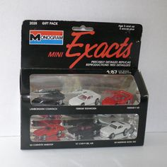 Monogram Mini Exacts - 1989 - #2028 Gift Pack - 1:87 H.O. Scale -  6 Pack #Monogram