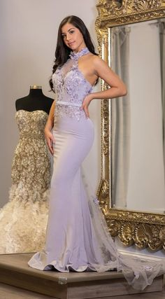 Halter Purple Long Prom Dress With Lace Appliques CR 9586 Grey Bridesmaids, Mermaid Bridesmaid Dresses, Prom Dresses, Wedding Dresses, Graduation Dresses, Lace Wedding, Plus Size Wedding, Lace Applique, Brisbane
