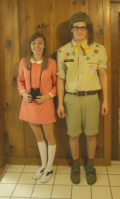 Moonrise Kingdom for Halloween. @Maggie Bunce and @Britney Oswell OH NO!!!!!!!!!!!!!!! Hehehe... is this movie popular enough that people would recognize these costumes?!