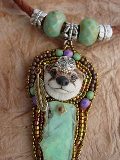 RESERVED  Otter Play Necklace by HeidiKummliDesigns on Etsy