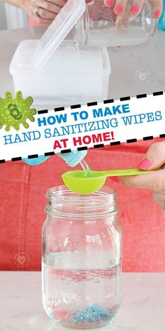Learn how to make Hand Sanitizing Wipes at Home with our super simple tutorial! We share the exact way we make them at home so everyone can keep their hands and surfaces germ free! Grab our simple hand sanitizing wipes recipe now! Saving this! Homemade Cleaning Products, Household Cleaning Tips, Cleaning Recipes, House Cleaning Tips, Cleaning Hacks, Diy Cleaning Wipes, Diy Home Cleaning, Household Products, Tips And Tricks