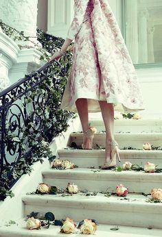 ballerina pink on the stairs...