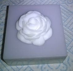 Rose on square 2 tone soap