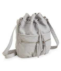 Faux Leather Bucket Bag, Aeropostale.com $30