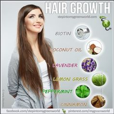 ☛ Natural hair growth for YOU!  FORE MORE ON NATURAL HAIR GROWTH:  http://www.stepintomygreenworld.com/healthyliving/beautytips/natural-ways-to-increase-hair-growth/    FOR THE TOP NUTRIENTS FOR YOUR HAIR:  http://www.stepintomygreenworld.com/healthyliving/beautytips/top-nutrients-for-your-hair/  ✒ Share | Like | Re-pin | Comment