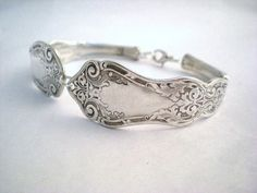 Spoon Bracelet Silverware Jewelry Silver by monpetitchouboutique. $32.99, via Etsy.