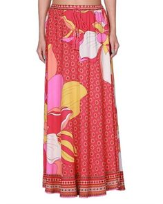bright patterned maxi skirt