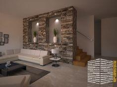 Para tu sala: ¡15 ideas para revestir las paredes con piedra! (De Xochitl Díaz)