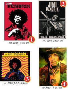 Jimi Hendrix 4 peças intervenção,poster,capa cd e foto