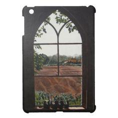 教会窓の絵画からの田園景色の眺め iPad MINIケース