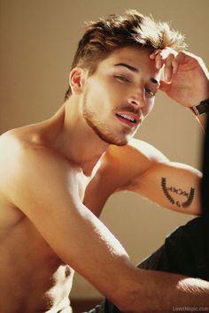 Arnaud Cornevin sexy cute hot guys tattoo shirtless model