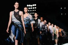 The Prettiest Pics From Fashion Week #refinery29  http://www.refinery29.com/fashion-week-spring-2015-behind-scenes#slide25  The final walk at Prabal Gurung.