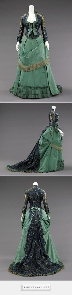Afternoon dress by House of Worth ca. 1875 French   The Metropolitan Museum of Art