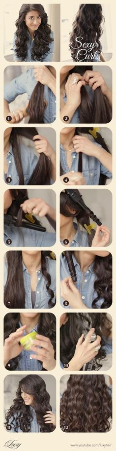 Sexy curls tutorial via youtube