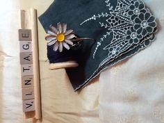 Enamelware daisy pin by VintageGlitzy on Etsy, $15.00