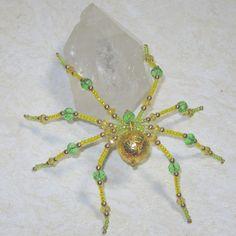 LemonLime Beaded Spider