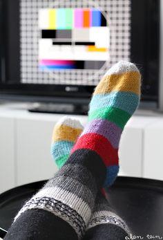 test pattern socks