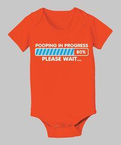 Pooping in Progress Bodysuit