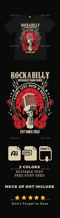 #Rockabilly #Band #T Shirt - Designs T-Shirts