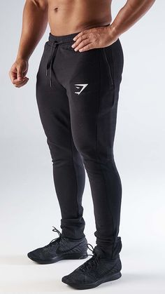 The Tapered Cuffed Bottoms in black