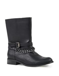 Buckled Chain Boots