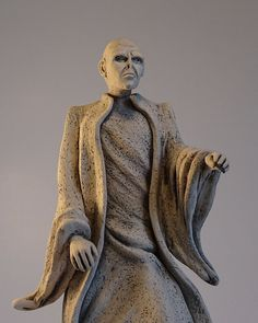 Lord Voldemort, He Who Must Not Be Named, you know who, handmade ceramic sculpture,figure,figurine