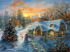 Christmas Cottage a 500-Piece Jigsaw Puzzle by Sunsout In... https://www.amazon.com/dp/B001CBUJVQ/ref=cm_sw_r_pi_dp_x_C1RtybWW74J2P