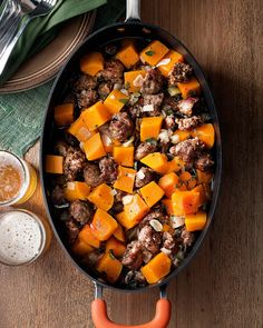 Sausage and Butternut Squash Skillet Supper