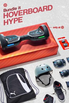 This Jetson V6 Hoverboard is a top gift this holiday. And it's easy to see why: it lights up, has built-in Bluetooth speakers and is only available at Target. Complete with ensemble with safety gear, cool kicks, sunglasses and a backpack to carry knee, elbow and wrist pads between cruises. Wrap it up for one show-stopping Christmas gift, and lots of sidewalk cred for your kid.