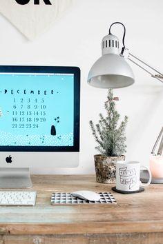Cute Free Desktop Christmas Background | Chalk Kids Blog