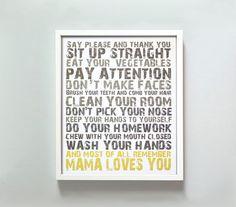 11x14 Mama Loves You. $22.00, via Etsy.