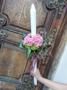 lumanare botez roz fetita My Flower, Flowers, Candels, Flower Arrangements, Bouquet, Wreaths, Decor, Floral Arrangements, Decoration