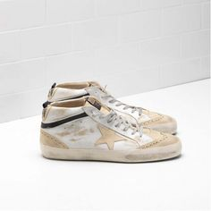 68ce9dfc3a05ed Achat Basket Golden Homme MID STAR Solde Chaussure GGDB G30MS634.G1. Star  ShoesGolden GooseOff ...