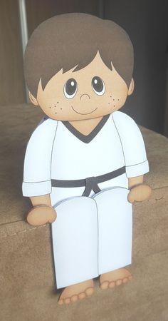 3D On the Shelf Card Kit - Little Ethnic Karate Boy Rohan - Photo by Hazel…