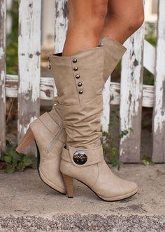 Modern Vintage Boutique - These Boots Were Made for Walkin Beige, $44.00 (http://www.modernvintageboutique.com/these-boots-were-made-for-walkin-beige.html/)
