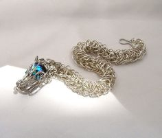 Awesome!... Dragon Jewelry Chainmaille Bracelet by organicmetallurgy on Etsy