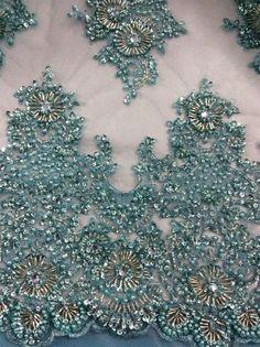 Bordadoras de la mano de cuentas y perlas de diseño para la novia y el vestido-en Tela bordada de Fabricado en m.spanish.alibaba.com.