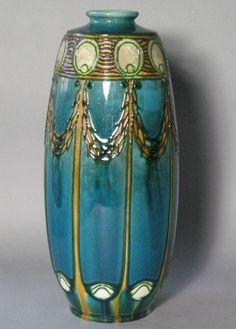 Majolica Art Nouveau vase c.1900