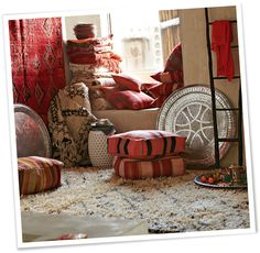 West Elm with a Moroccan Accent... all these decor objects are staple items @ imports from marrakesh!