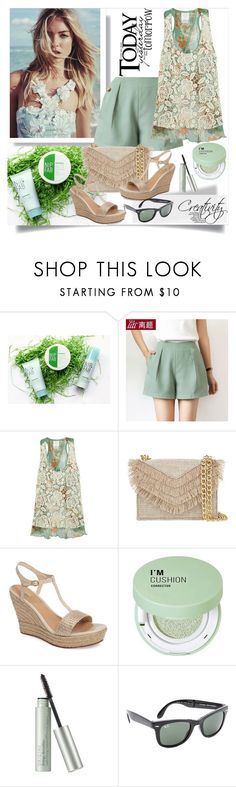 """Summer look"" by creativity30 ❤ liked on Polyvore featuring Nip+Fab, Anna Sui, Cynthia Rowley, UGG, Forever 21, Origins and Ray-Ban"
