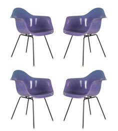 Mid Century Retro Vintage Purple Fiberglass Chairs Charles Eames for Herman Miller | Pinned by 360 Modern Furniture