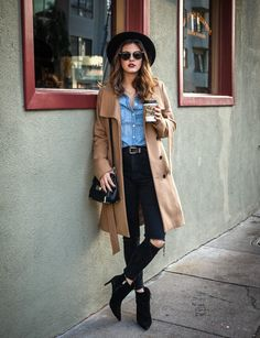 Neutral Layering | Fashion Blogger | San Francisco Fashion | Winter Fashion | Ripped Jeans | Love From Jackie
